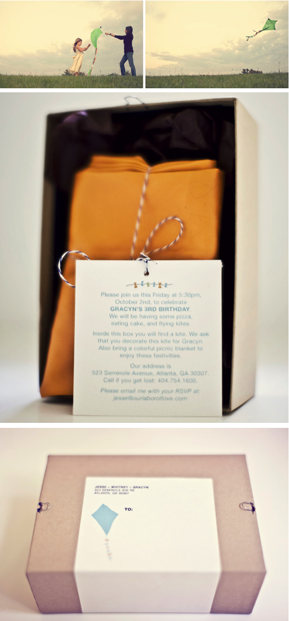 Kite invitations