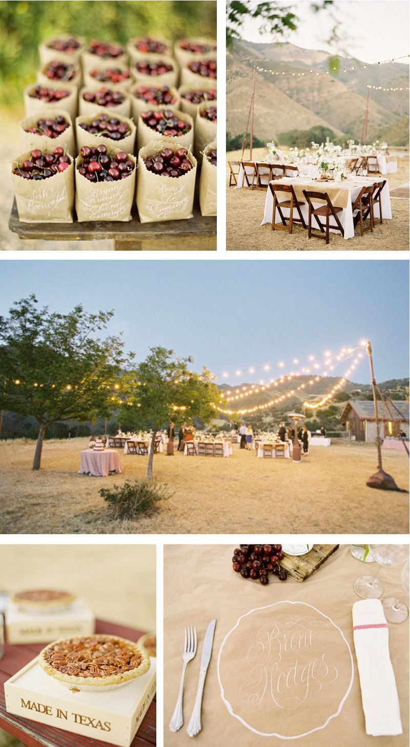 Summer cherry wedding