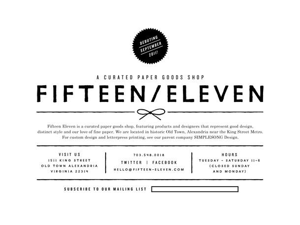 Fifteen/Eleven