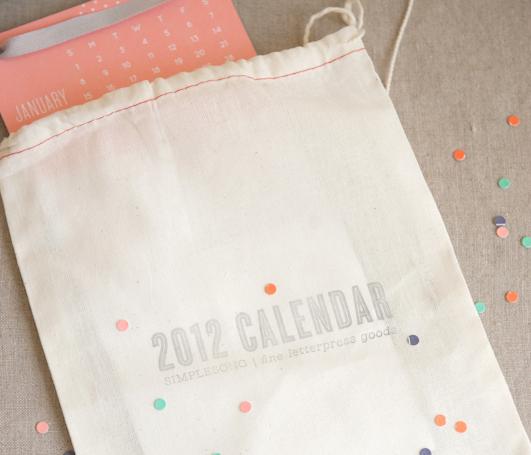Ss calendar 2012 letterpress