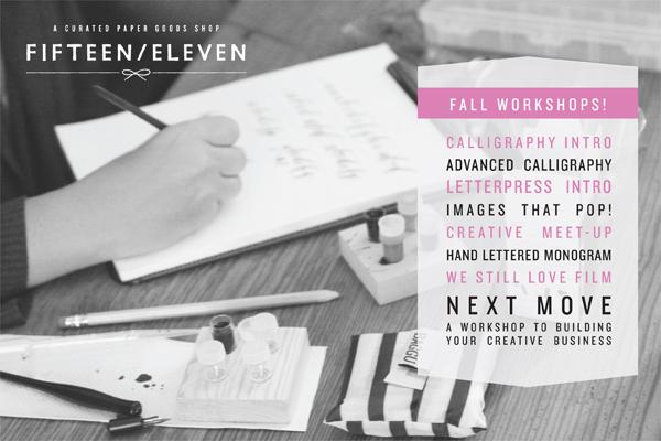 FifteenEleven workshops